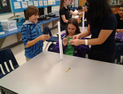 The Students Were Challenged To Create Tallest Paper Tower They Could Using Only One Sheet Of 4 Clips And Inch Piece Tape